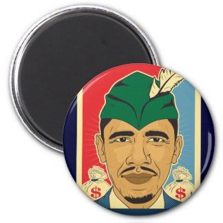 Barack Obama Hood Robbin' Hood Sticker. Spread the Magnet