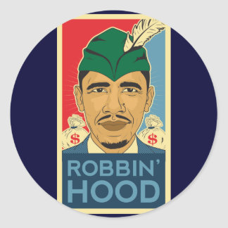 Barack Obama Hood Robin Hood Tee! Barrack Obama. Classic Round Sticker