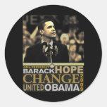 Barack Obama Hope Classic Round Sticker