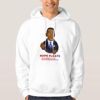 Barack Obama Hope Floats Rubber Duck Hooded Sweatshirt