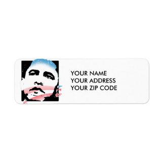 BARACK OBAMA HOPE FOR CHANGE LIGHT -.png Return Address Label