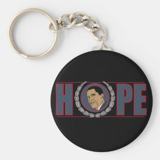 Barack Obama Hope Basic Round Button Keychain