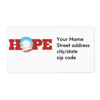 Barack Obama Hope Logo Shipping Label