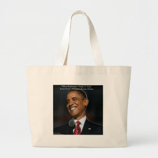 Barack Obama & Humor Quote Gifts & Cards Large Tote Bag