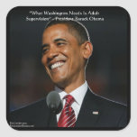 Barack Obama & Humor Quote Gifts & Cards Square Sticker