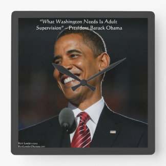 Barack Obama Humor Quote Wall Clock