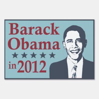 Barack Obama in 2012 Yard Sign