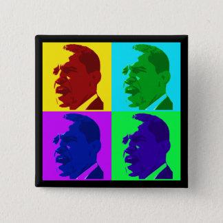 Barack Obama in Living Color (Foursquare Button) Button