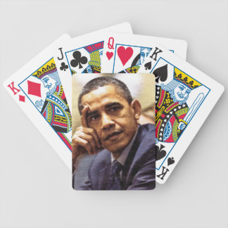 BARACK OBAMA IN THOUGHT playing cards