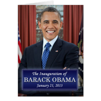 Barack Obama Inauguration 2013 Card
