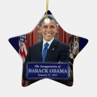 Barack Obama Inauguration 2013 Ceramic Ornament