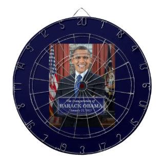 Barack Obama Inauguration 2013 Dartboard With Darts