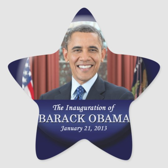 Barack Obama Inauguration 2013 Star Sticker