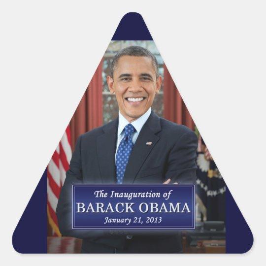 Barack Obama Inauguration 2013 Triangle Sticker