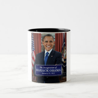 Barack Obama Inauguration 2013 Two-Tone Coffee Mug