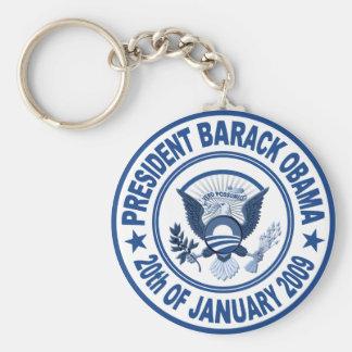 Barack Obama Inauguration Presidential Seal Basic Round Button Keychain