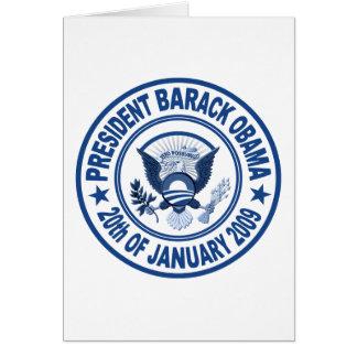 Barack Obama Inauguration Presidential Seal Card