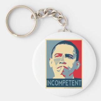 Barack Obama - Incompetent Basic Round Button Keychain
