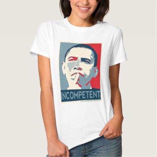 Barack Obama - incompetente Remeras