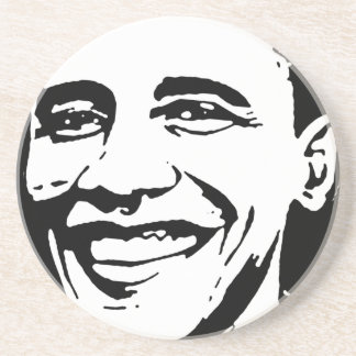 BARACK OBAMA INK ART COASTER