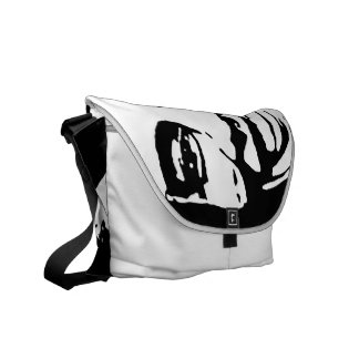BARACK OBAMA INK ART COURIER BAG