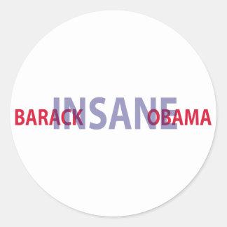 Barack Obama insano Pegatinas Redondas