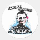 Barack Obama is my homegirl Classic Round Sticker
