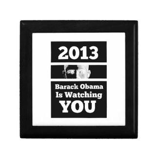 Barack Obama is Watching You Big Brother Parody Keepsake Box