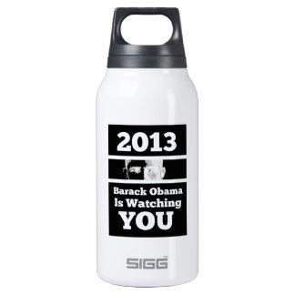 Barack Obama is Watching You Big Brother Parody Insulated Water Bottle