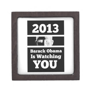 Barack Obama is Watching You Big Brother Parody Premium Jewelry Box