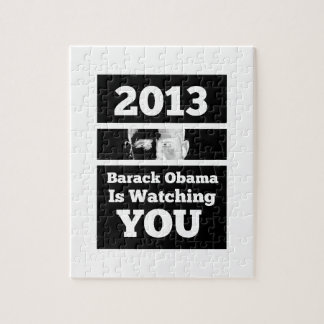 Barack Obama is Watching You Big Brother Parody Jigsaw Puzzle