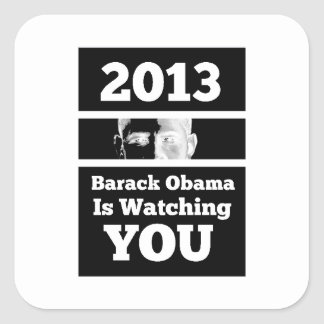 Barack Obama is Watching You Big Brother Parody Square Sticker