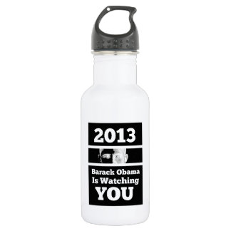 Barack Obama is Watching You Big Brother Parody Stainless Steel Water Bottle