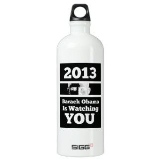 Barack Obama is Watching You Big Brother Parody Water Bottle