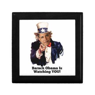 Barack Obama Is Watching YOU Uncle Sam Parody Trinket Box