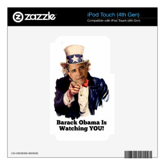 Barack Obama Is Watching YOU Uncle Sam Parody iPod Touch 4G Decal