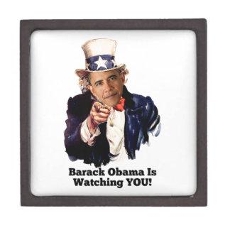 Barack Obama Is Watching YOU Uncle Sam Parody Keepsake Box