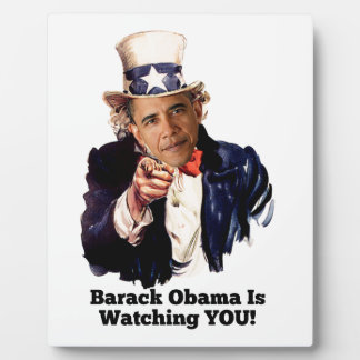 Barack Obama Is Watching YOU Uncle Sam Parody Photo Plaques