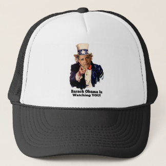 Barack Obama Is Watching YOU Uncle Sam Parody Trucker Hat