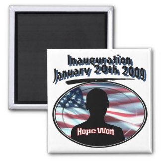 Barack Obama January 20th 2009 Inauguration 2 Inch Square Magnet