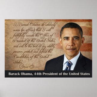 Barack Obama, juramento de toma de posesión Póster