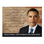 Barack Obama, juramento de toma de posesión Tarjetas Postales