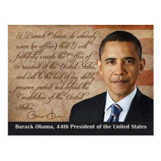 Barack Obama, juramento de toma de posesión Postales