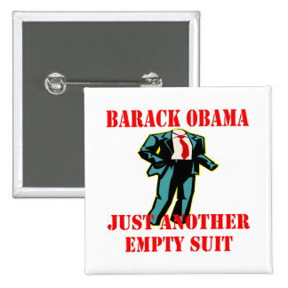 Barack Obama Just Another Empty Suit 2 Inch Square Button