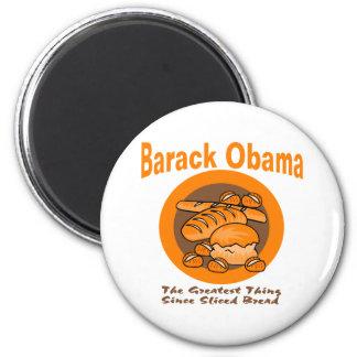 Barack Obama la cosa más grande desde el pan corta Imán Redondo 5 Cm