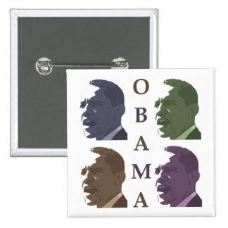 Barack Obama lavó el botón de la campaña del color Pin