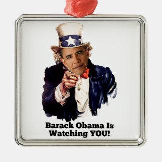 Barack Obama le está mirando parodia del tío Sam Adorno De Navidad