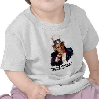 Barack Obama le está mirando parodia del tío Sam Camisetas