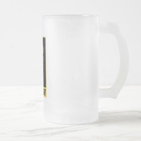 Barack Obama - Leadership Frosted Glass Beer Mug