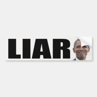 Barack Obama: Liar Bumper Sticker